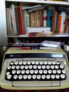 Just Writing on an old typewriter